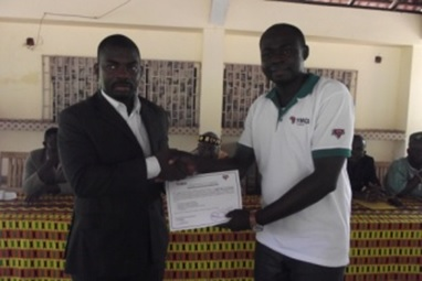 Fin de formation de jeunes entrepreneurs ruraux: le YMCA a organisé une cérémonie de remise d'attestations aux élèves