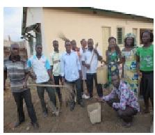 Salubrité dans les locaux du nouveau bureau de YMCA à Kara: les membres de l'union locale se mobilisent
