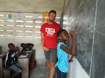 Conor's experience with YMCA during his placement in Togo as volunteer on ICS programme