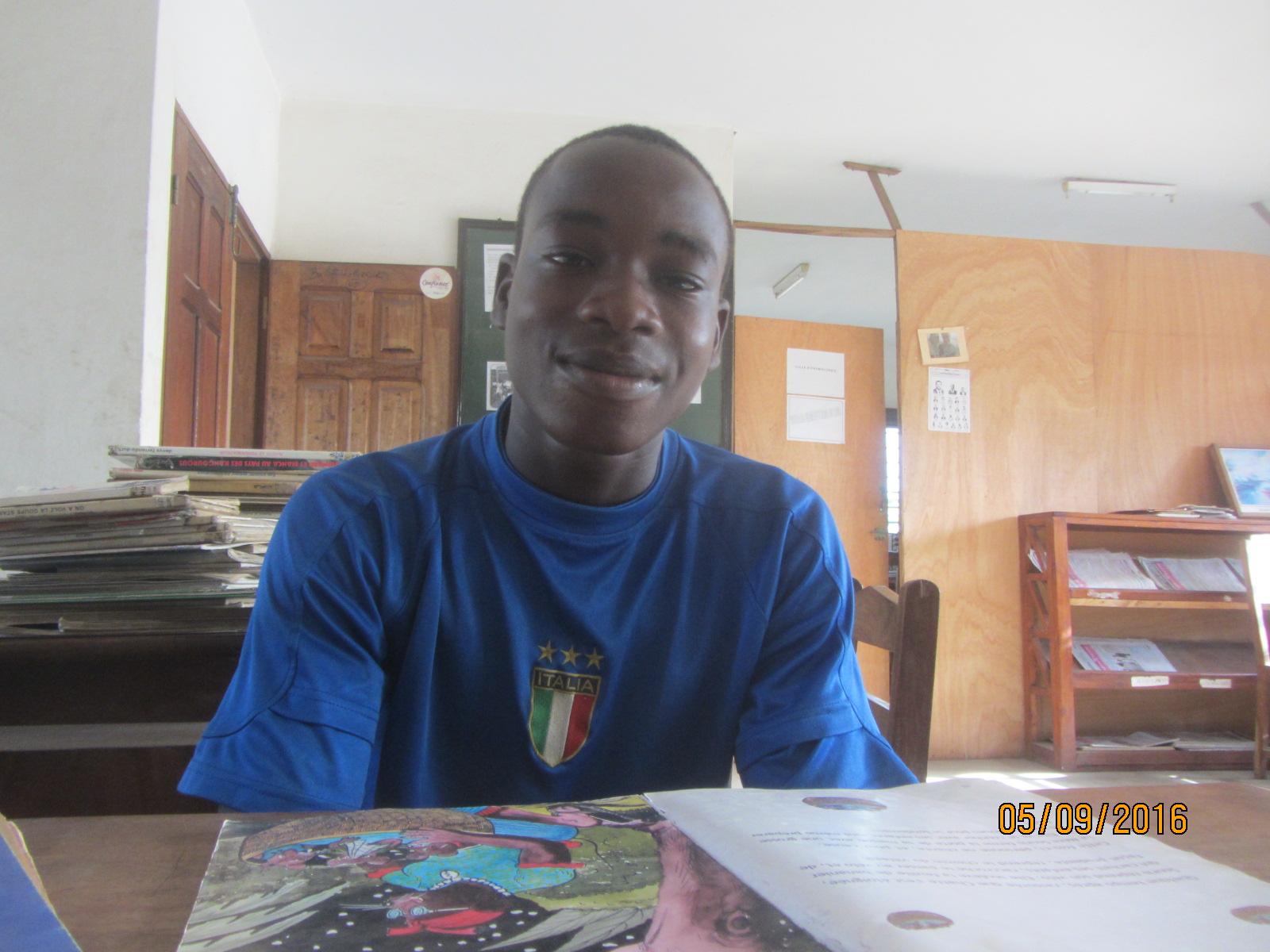 «Sincèrement le Ymca-Togo a fait beaucoup dans ma vie, surtout à l'école j'ai été toujours le meilleur»