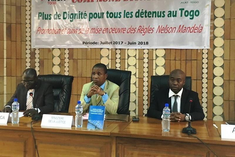 Pour plus de dignité pour tous les détenus au Togo, YMCA et ACAT, lancent une campagne de promotion des règles Nelson Mandela dénommée «Dignité»