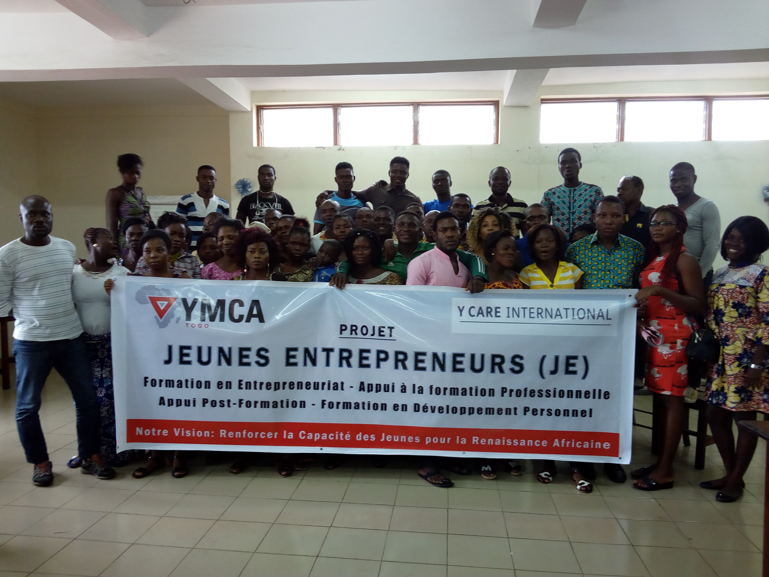 L'UCJG/YMCA-Togo crée l'opportunité d'emplois à une cinquantaine de jeunes dans les bidonvilles