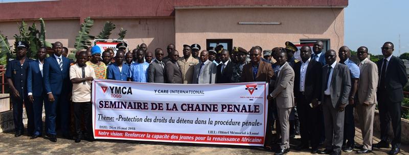 La protection des droits du détenu dans la procédure pénale au cœur d'une rencontre à Lomé,initiative de YMCA-Togo