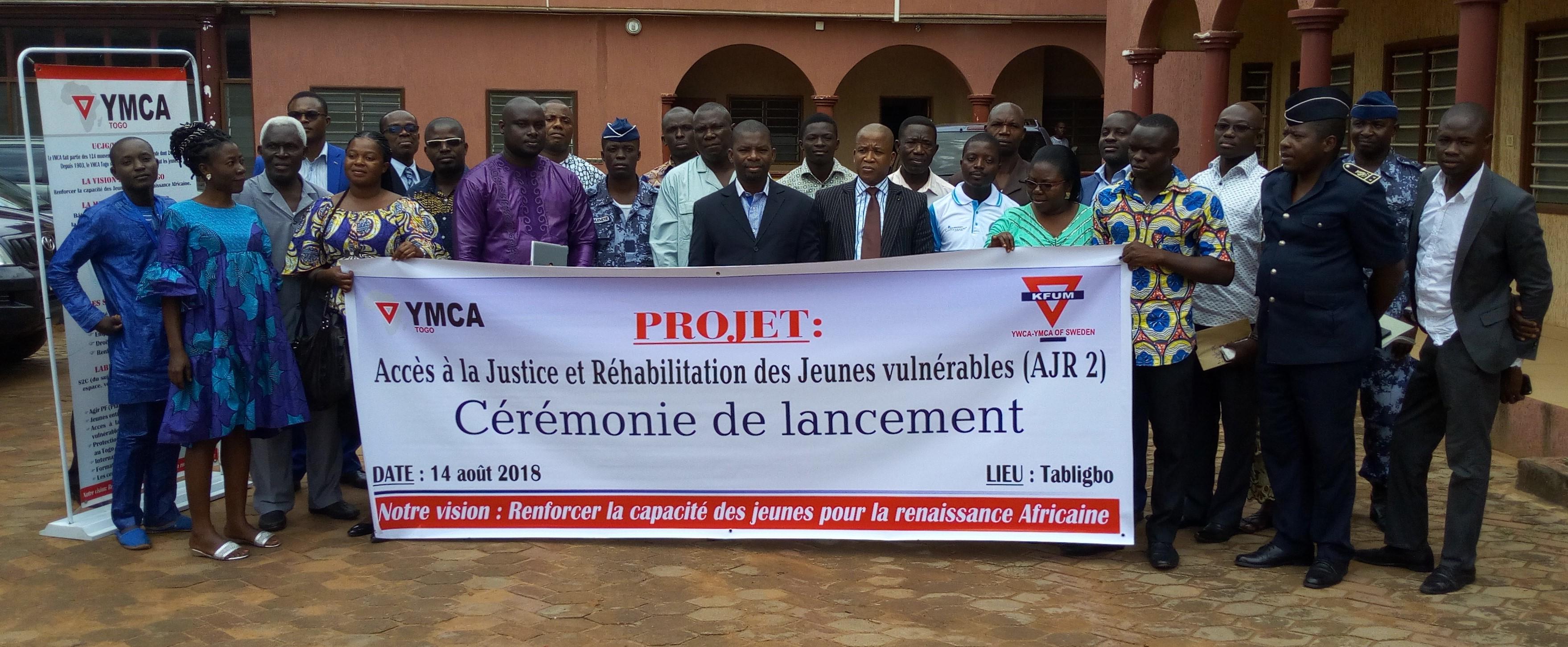 UCJG/YMCA-TOGO lance la phase 2 du projet «accès à la justice et réhabilitation des jeunes vulnérables au Togo