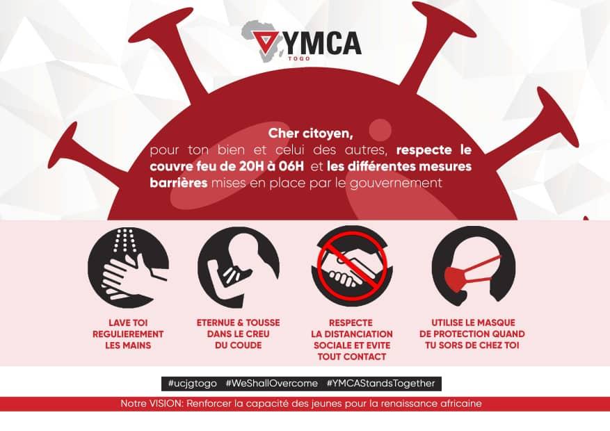 YMCA-Togo lutte contre la propagation de la pandémie de Covid-19
